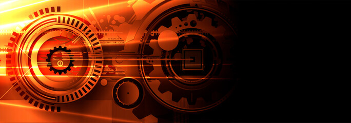 abstract futuristic data technology business background Fotomurales
