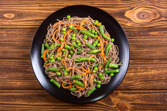 Soba noodles salad
