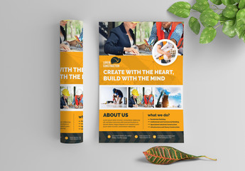 Orange Building Business Flyer Layout