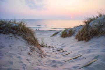 Canvas Prints North Sea Strandübergang zur Nordsee - Dänemark