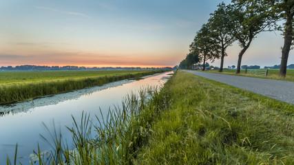Netherlands open polder landscape Fototapete