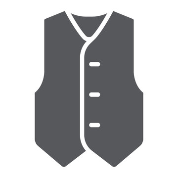 Waistcoat glyph icon, clothes and suit, formal vest sign, vector graphics, a solid pattern on a white background.