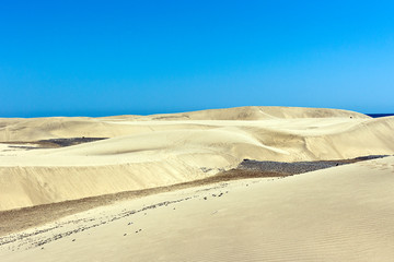 Gran Canaria - Sand dunes of Maspalomas scenic view, springtime in Gran Canaria, Canary Islands, Spain