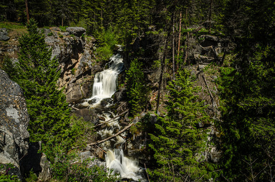 Crystal Falls In The Little Pend Oreille National Wildlife Refuge.