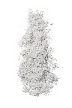 White cosmetic powder isolated on white background