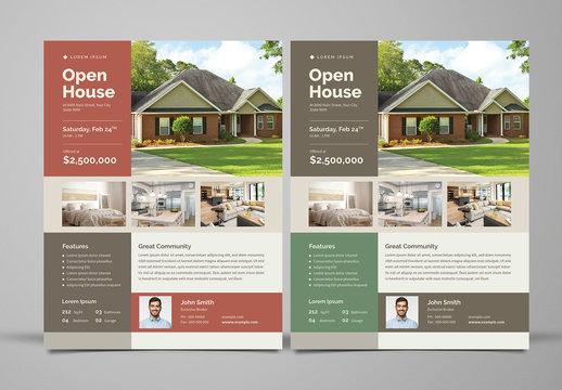 Real Estate Flyer Layout