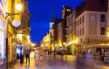 Lighted Torun streets