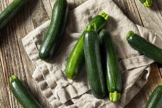Raw Green Organic Zucchini