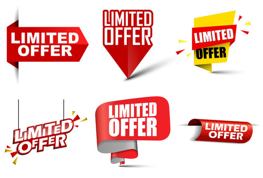 set vector banners limited offer