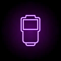 flash neon icon. Elements of photography set. Simple icon for websites, web design, mobile app, info graphics