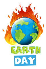 An earth day icon