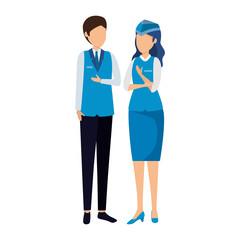 flight attendants couple avatars characters