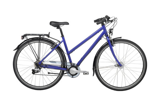 sports bike isolated on white background