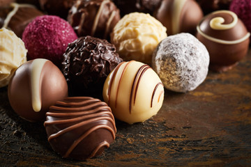 Luxury handmade decorative chocolate bonbon