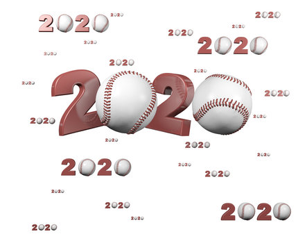 Many Baseball 2020 Designs with many Balls