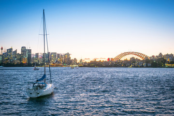 Photo sur Plexiglas Londres Sydney Skyline at Sunset
