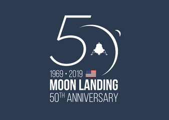 MOON LANDING 50th ANNIVERSARY Wall mural