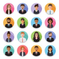 Businessmen and Business women avatars.