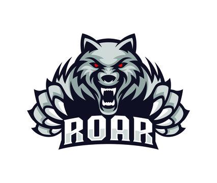 wolves logo illustration