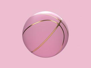 różowy pastelowy złoty streszczenie piłka / koszykówka renderowania 3d sport obiektu koncepcji - 269166967