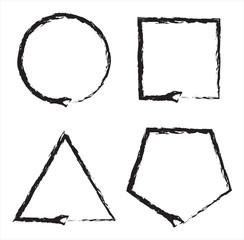 Ouroboros Snake Sign Shapes Collection