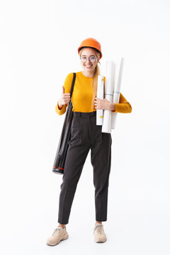 Full length of an attractive young woman architect