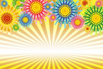 #Background #wallpaper #Vector #Illustration #design #art #free #freesize #charge_free effect line,concentration line,manga,comic,speed line 背景イラスト素材,打ち上げ花火イメージ,花火大会,夏祭り,イベント,ポスター,コピースペース,無料,