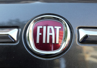 The logo of FIAT carmaker is seen on a vehicle in Cairo