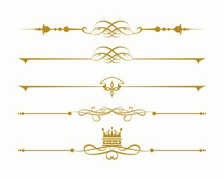 gold vintage elements