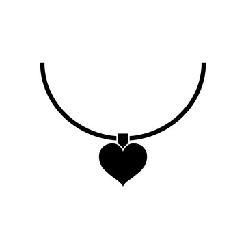 Heart icon pendant, logo isolated on white background