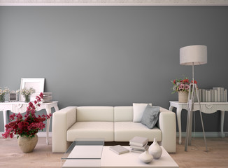gray Living room with lots of copy space