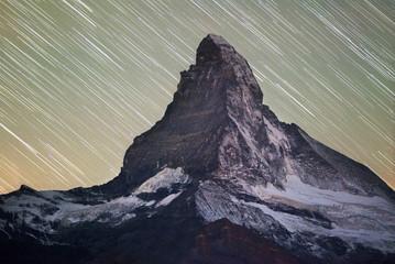 Wall Mural - Starfall on Matterhorn