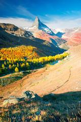 Wall Mural - Matterhorn slopes in autumn