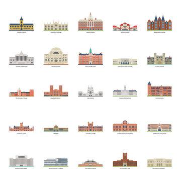 Universities Illustration Pack