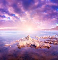 Fotobehang Lichtroze Dead Sea Israel