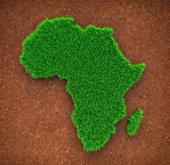 Grass map of Africa