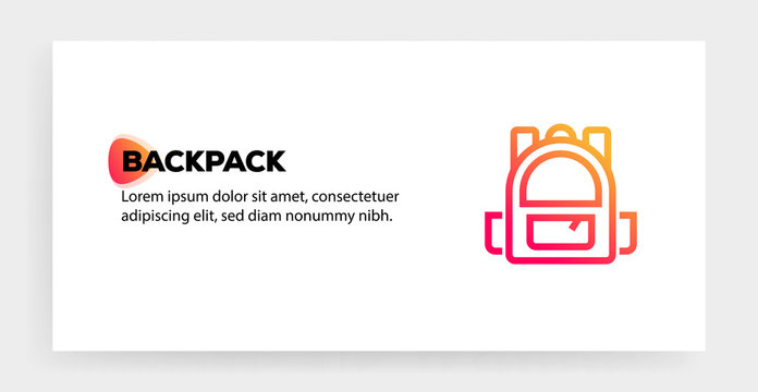 BACKPACK ICON CONCEPT