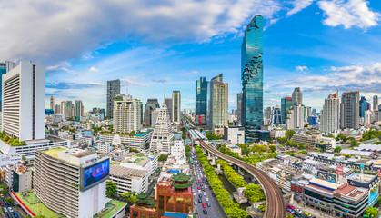 City view of Bangkok city  and subway station Thailand Fototapete