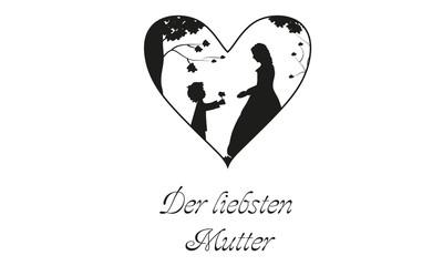 Scherenschnitt Muttertag