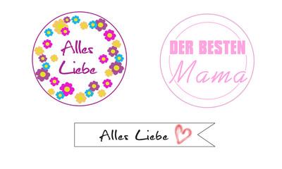 Geschenkanhänger Muttertag Alles Liebe