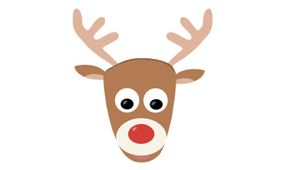 Illustraiton Rudolph the red nosed reindeer