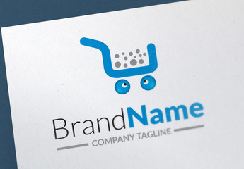 Logo Layout with Shopping Cart Icon