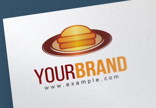 Logo Layout with Food Plate
