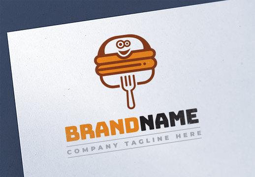 Graphic Fast Food Logo Layout Design