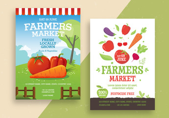 Farmers Market Poster Layout