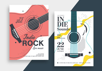 Indie Rock Music Poster Layout