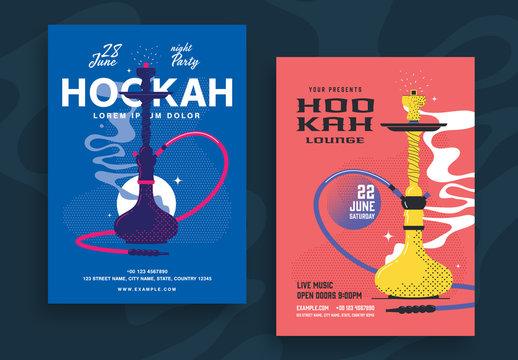 Hookah Lounge Poster Layout