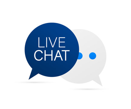 live chat speech bubbles concept. Vector stock illustration.
