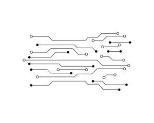 Circuit Future Technology Vector Illustration