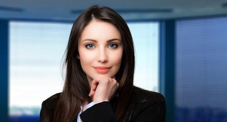 Beautiful businesswoman portrait in her office